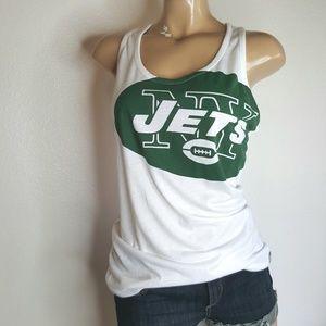NFL Nike The Jets green & white racer back Tank L